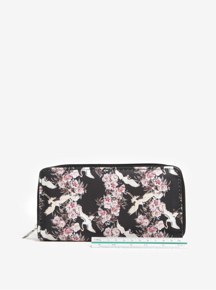 Portofel mare cu print floral si fermoar  Haily´s Hit