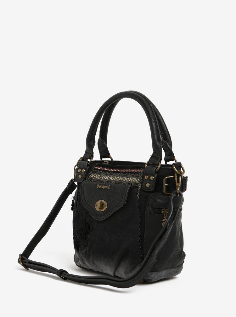 Černá kabelka do ruky Desigual Mcbee Mini Blackout