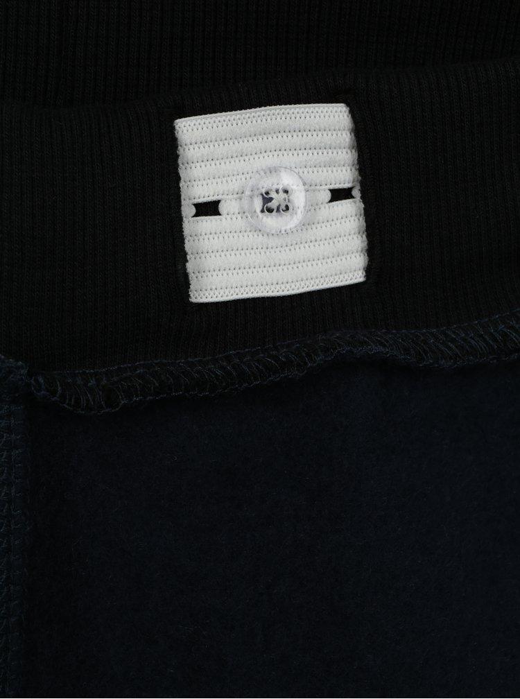 Tmavě modré žíhané klučičí tepláky s pruhy name it Janik