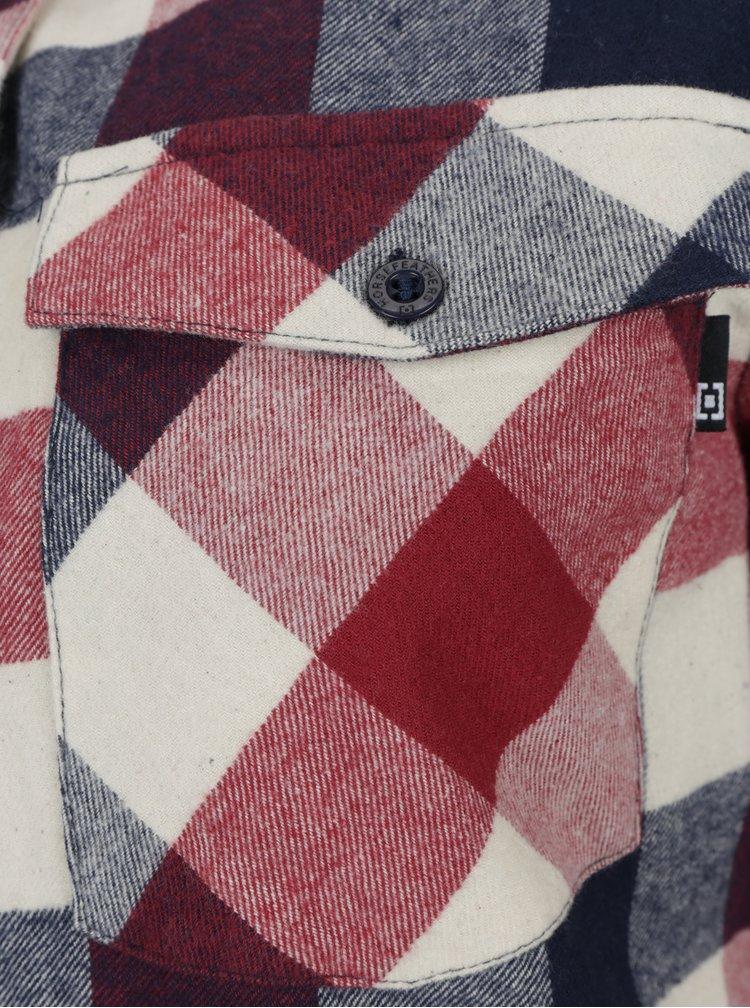 Krémovo-vínová dámská kostkovaná košile Horsefeathers Maya