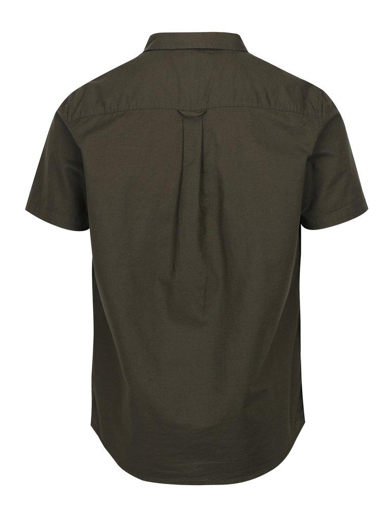 Khaki košile s krátkým rukávem Burton Menswear London