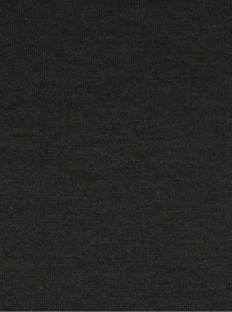 Pulover verde inchis din lana Jack & Jones Premium Mark