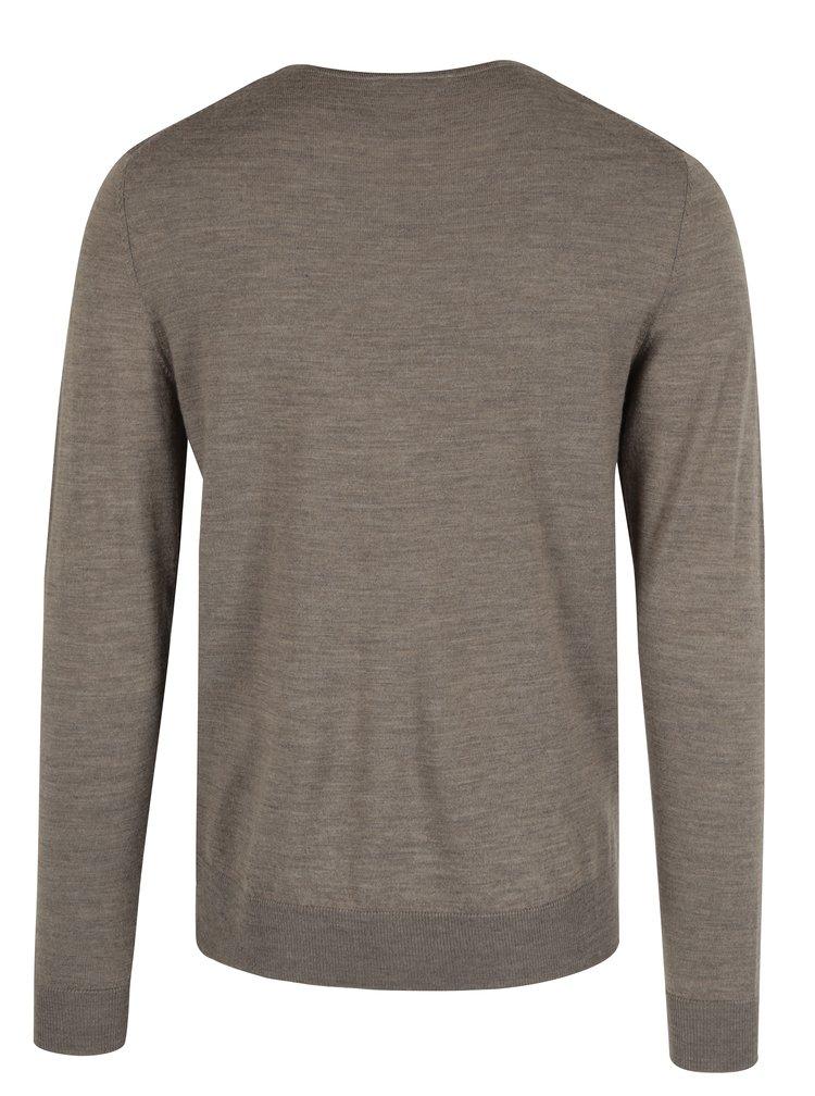 Béžový vlněný svetr Jack & Jones Premium Mark