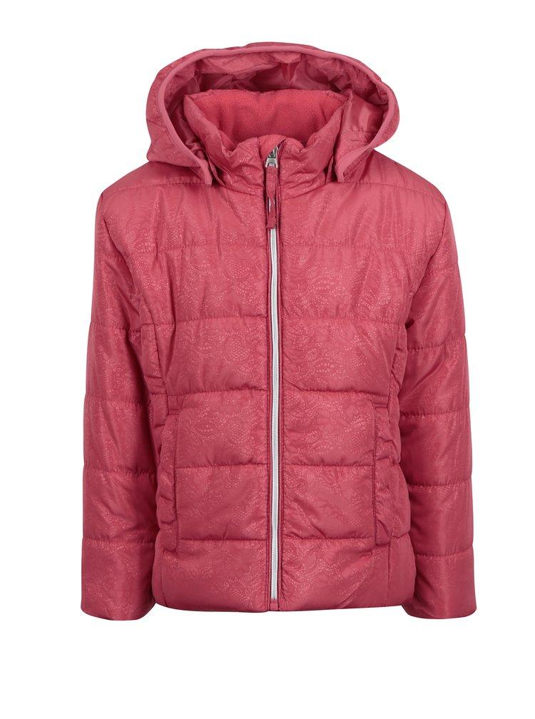 Růžová vzorovaná holčičí prošívaná bunda name it Mit