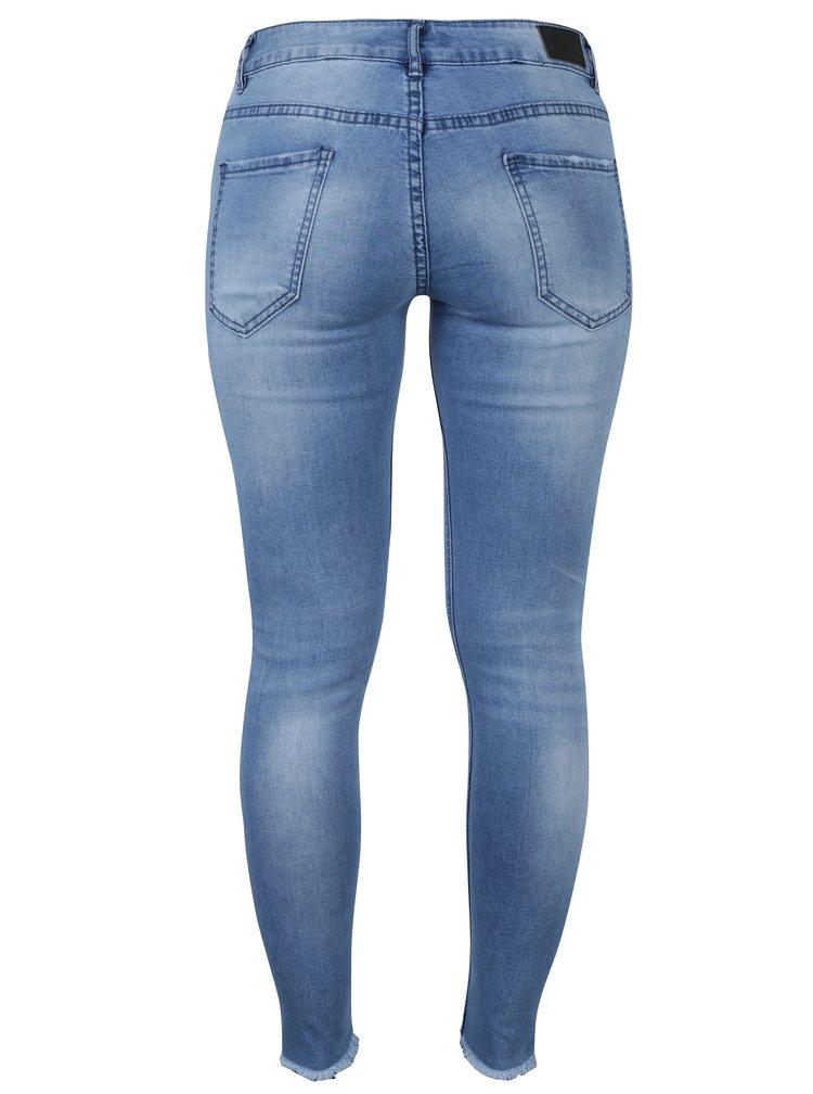 Modré zkrácené skinny džíny Haily´s Ina