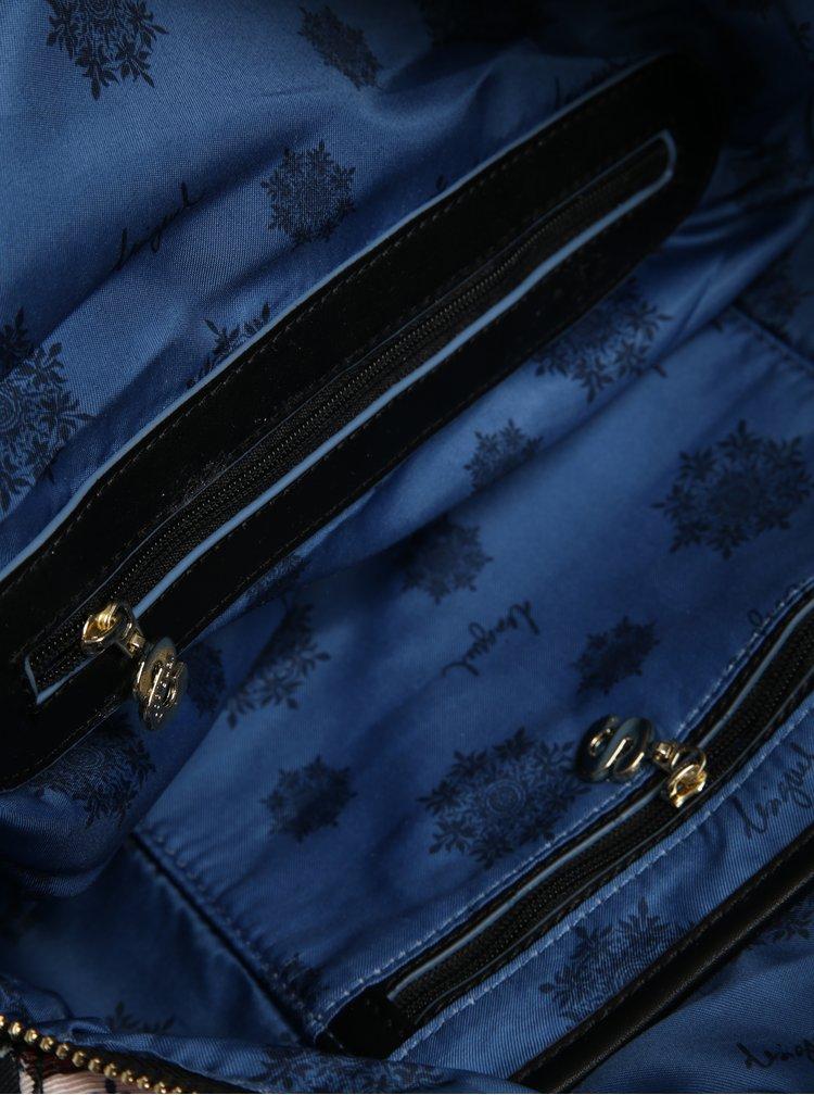 Šedo-černá vzorovaná kabelka 2v1 Desigual Manhattan Climber