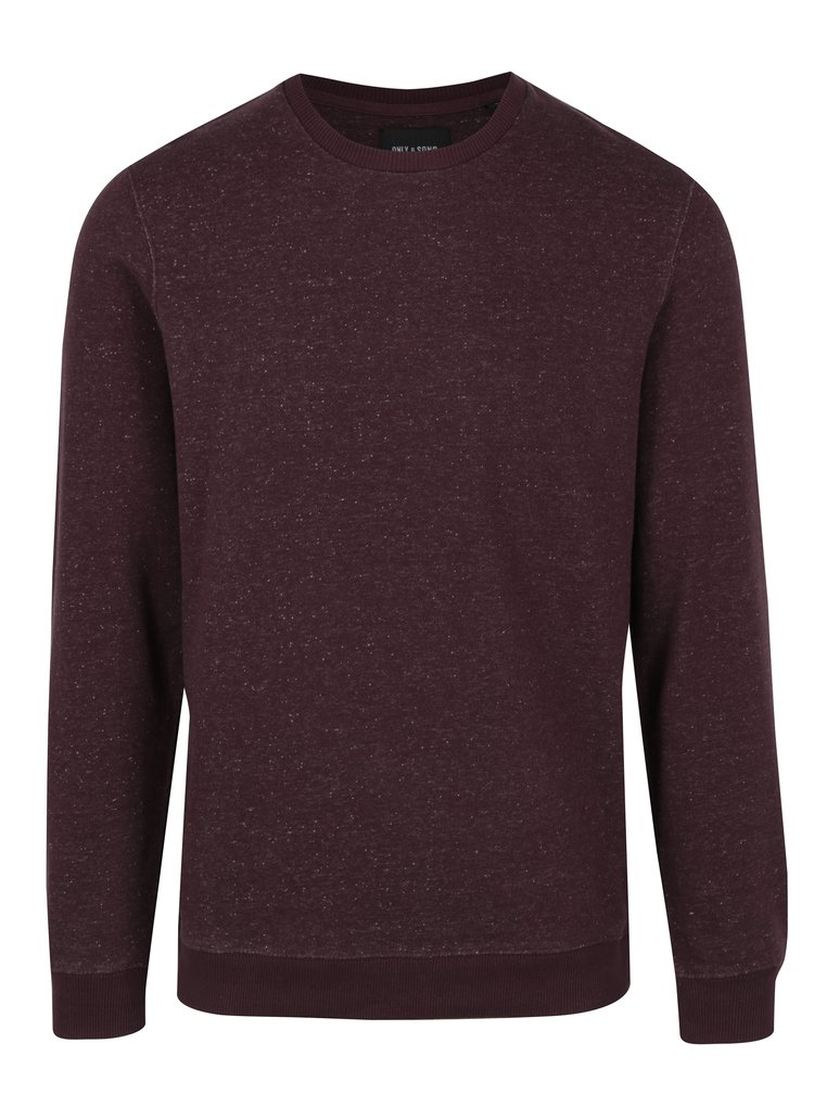 Pulover bordo ONLY & SONS Fiske