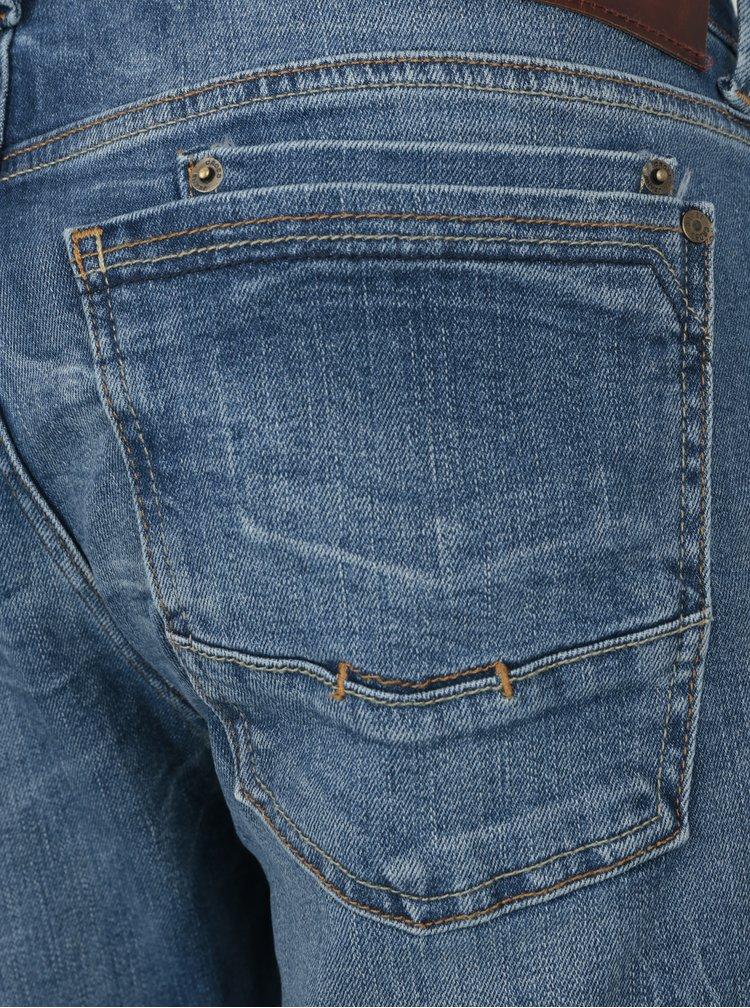 Modré pánské straight  tapered džíny Cross Jeans