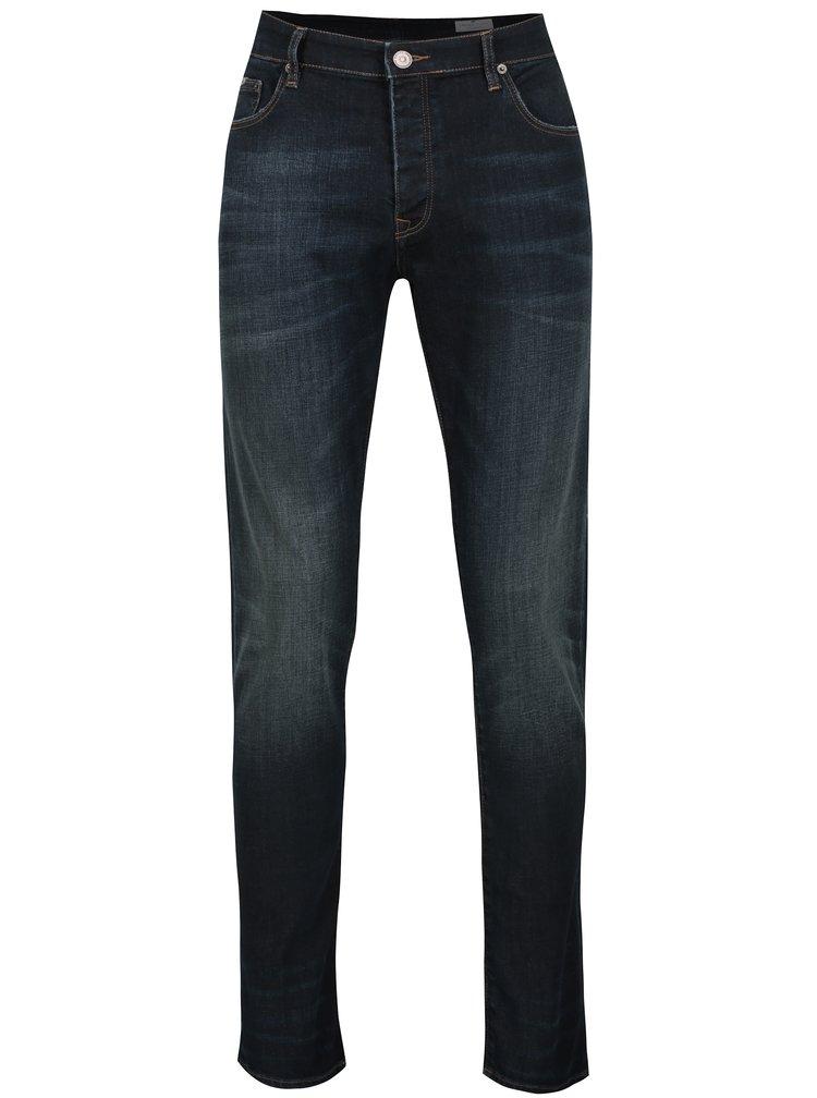 Tmavě modré pánské tapered fit džíny Cross Jeans