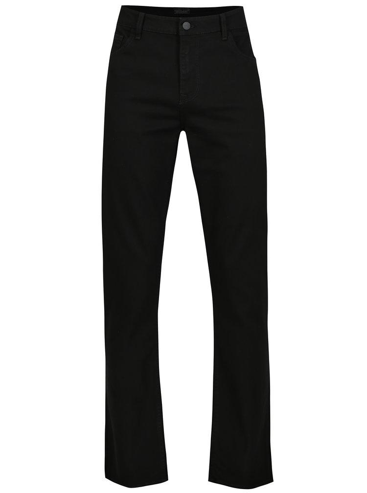 Černé pánské regular fit tapered džíny Cross Jeans