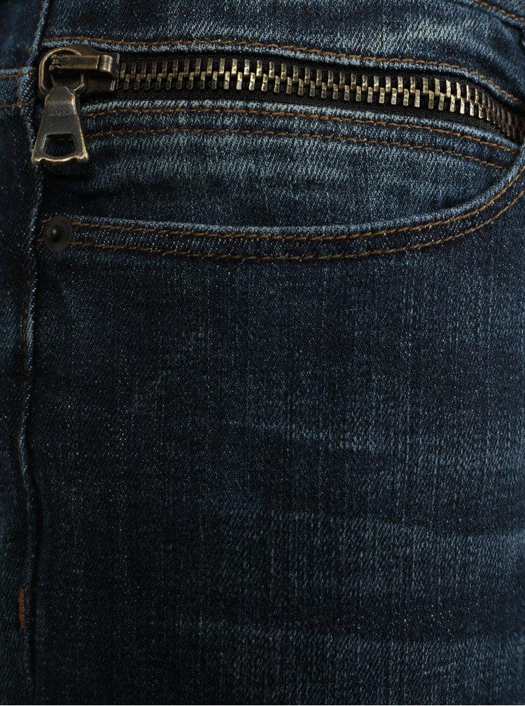 Tmavě modré pánské slim fit džíny Cross Jeans