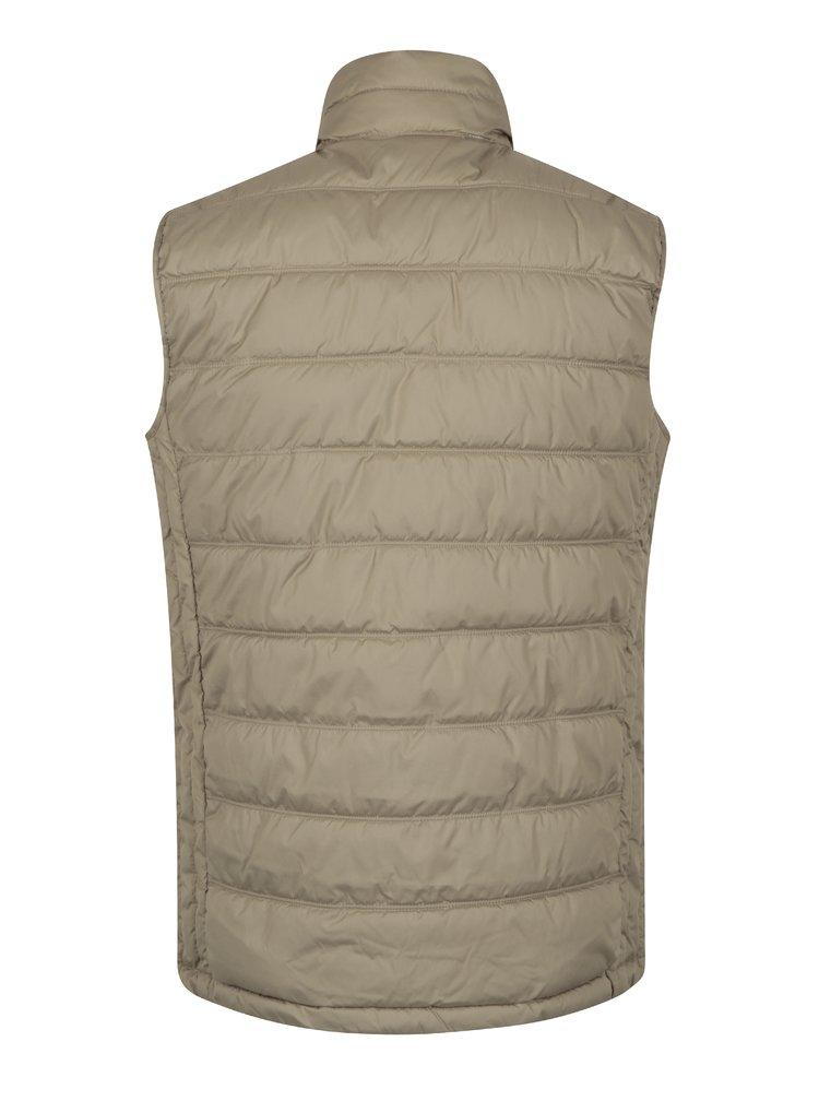 Béžová prošívaná vesta Jack & Jones Body