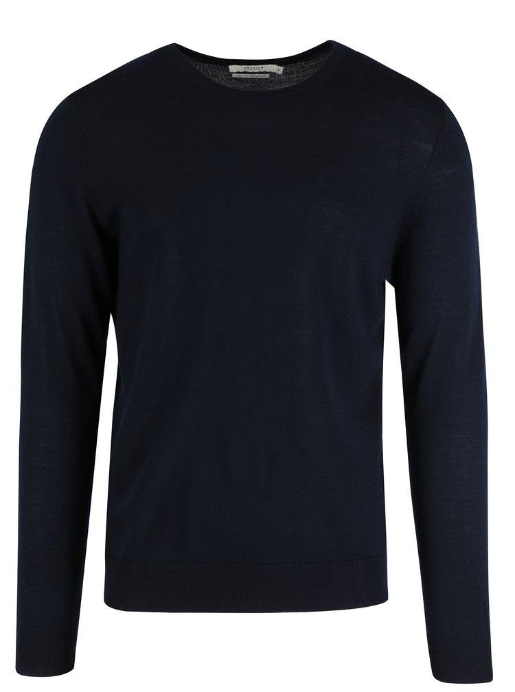 Tmavě modrý vlněný svetr Jack & Jones Premium Mark