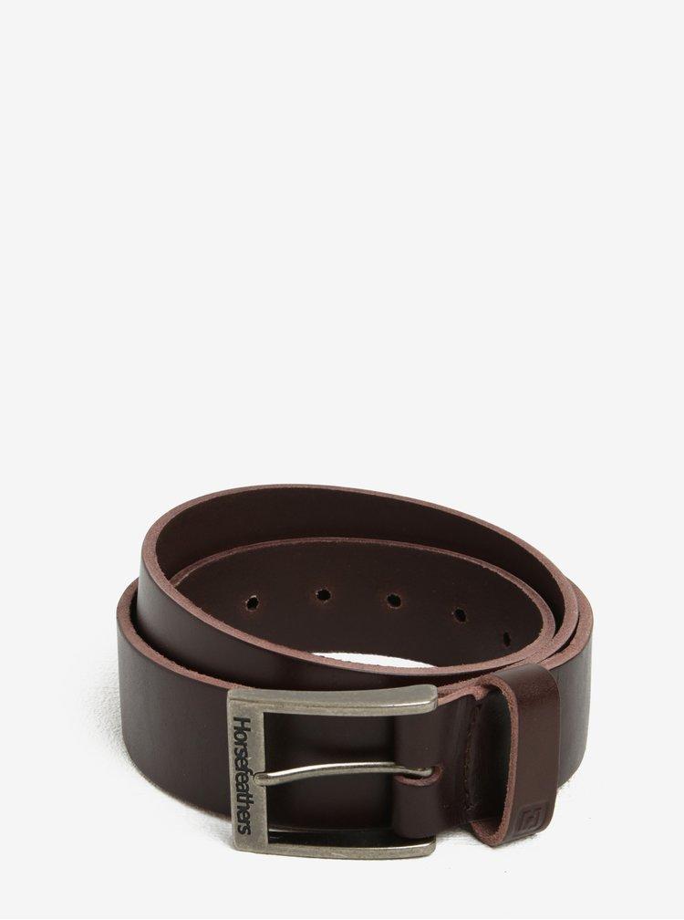 Hnědý pánský kožený pásek Horsefeathers Duke
