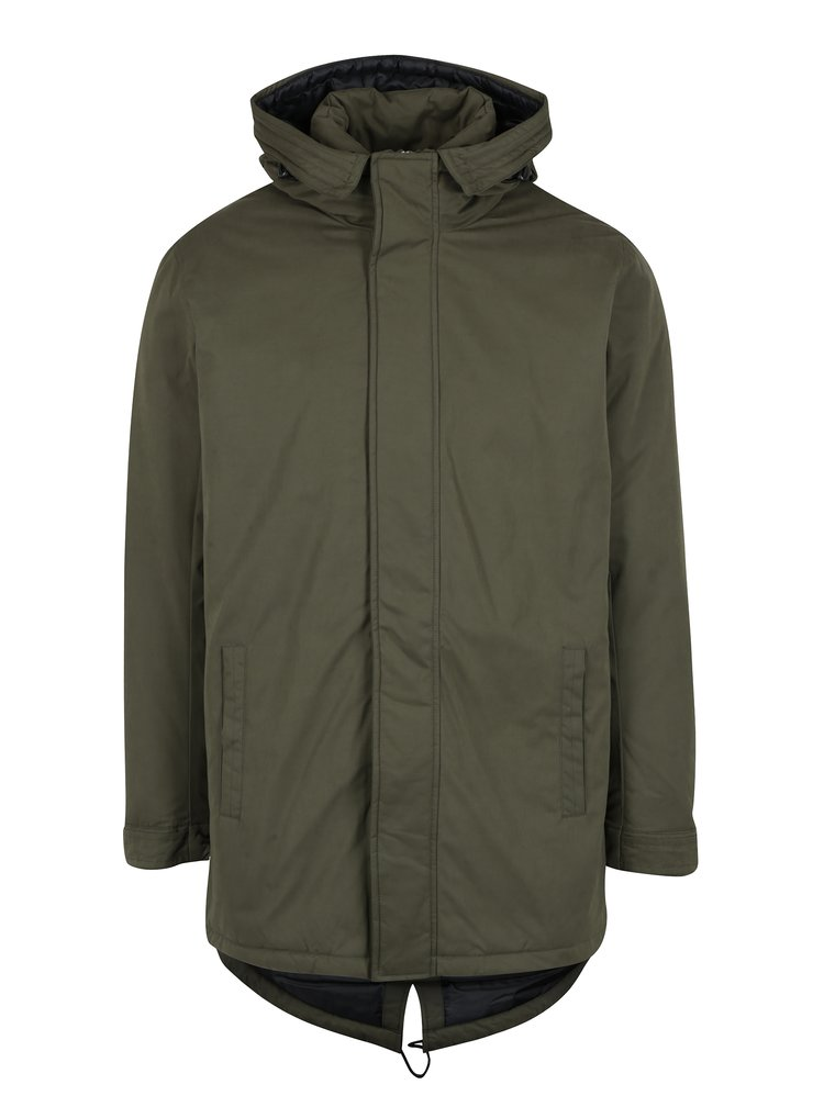 Geaca parka verde inchis cu gluga ONLY & SONS Ethan
