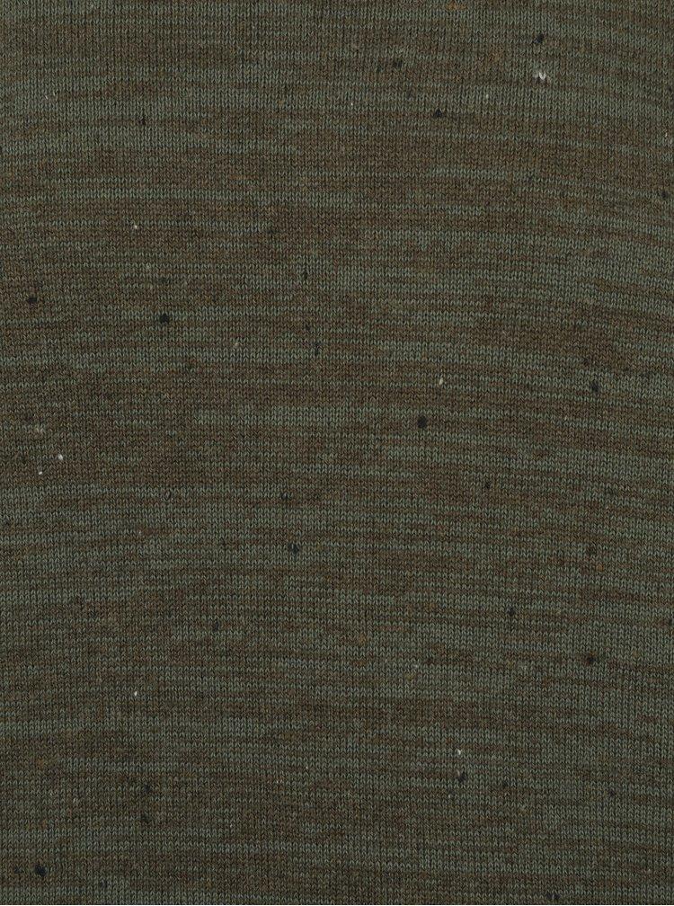 Tmavě zelený žíhaný svetr Jack & Jones Wills