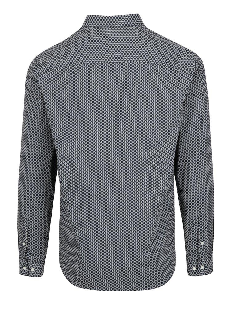 Tmavě modrá vzorovaná slim fit košile Jack & Jones Miguel