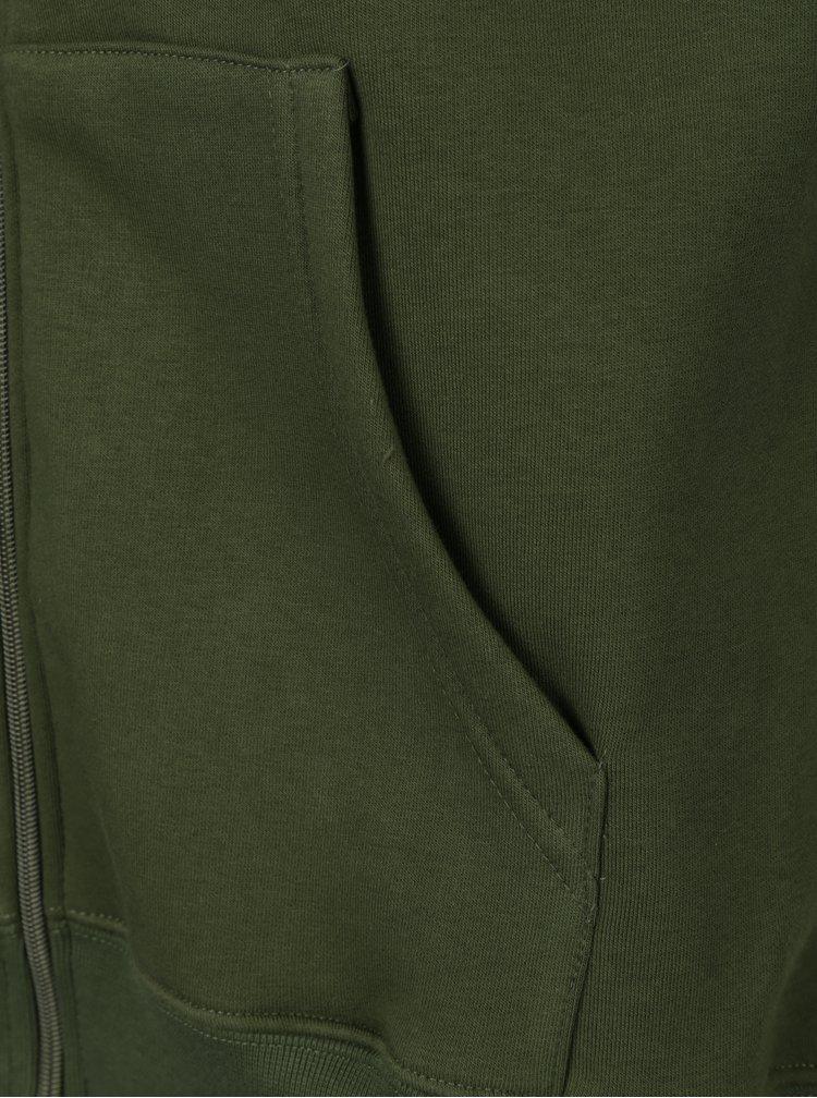 Zelená pánská mikina s kapucí Horsefeathers Mini Logo