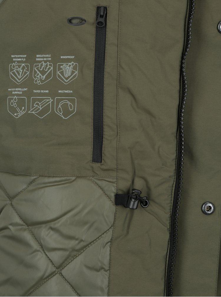 Khaki nepromokavá parka s kapucí Jack & Jones Meyland