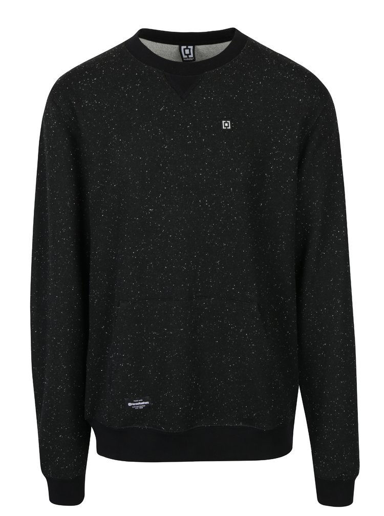 Bluza neagra cu textura si buzunar de cangur Horsefeathers Tyrell