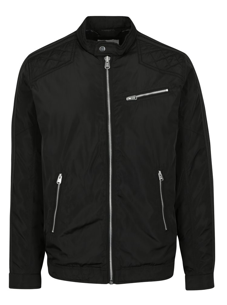 Jacheta neagra cu aspect lucios Jack & Jones Desi