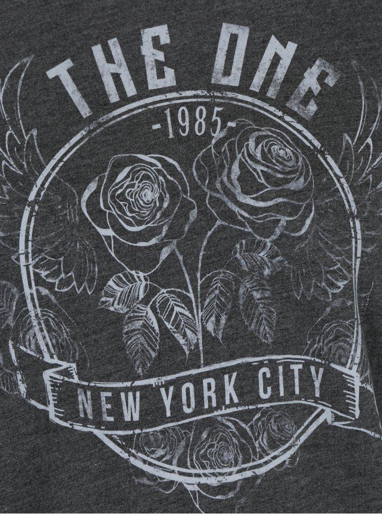Šedé tričko s tylovým spodním lemem Haily´s Rosy
