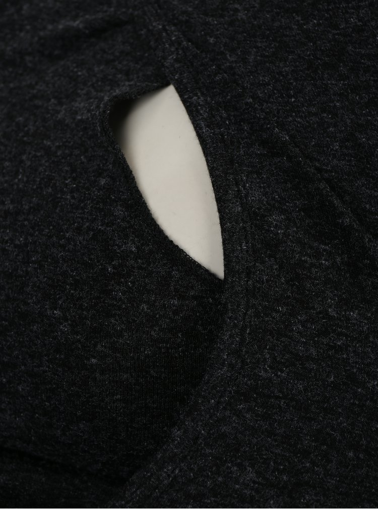 Tmavě šedé těhotenské/kojicí tričko s dlouhým rukávem Mama.licious Marcel