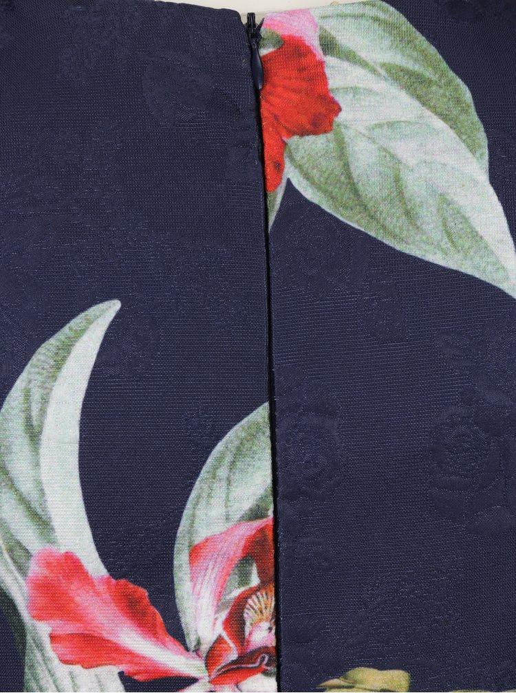 Rochie clos bleumarin cu print floral Haily´s Saskia
