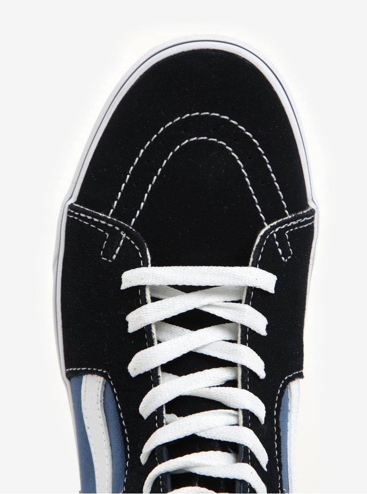 Tenisi inalti din piele si textil albastru & negru - Vans SK8-Hi