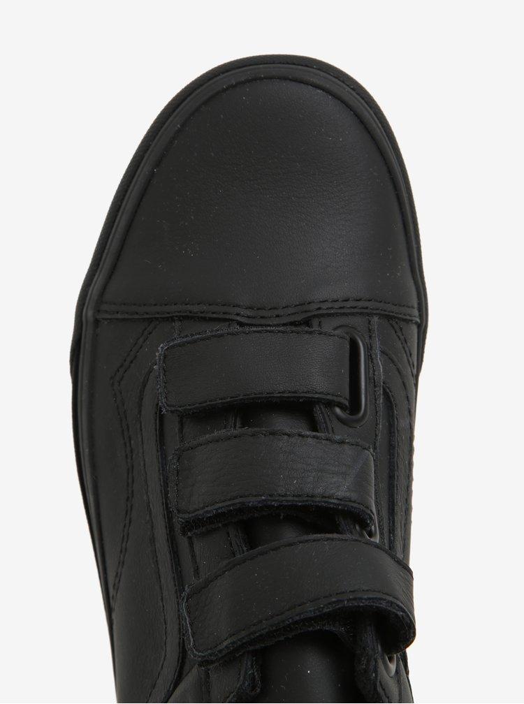 Černé dámské kožené tenisky se suchým zipem VANS Old Skool