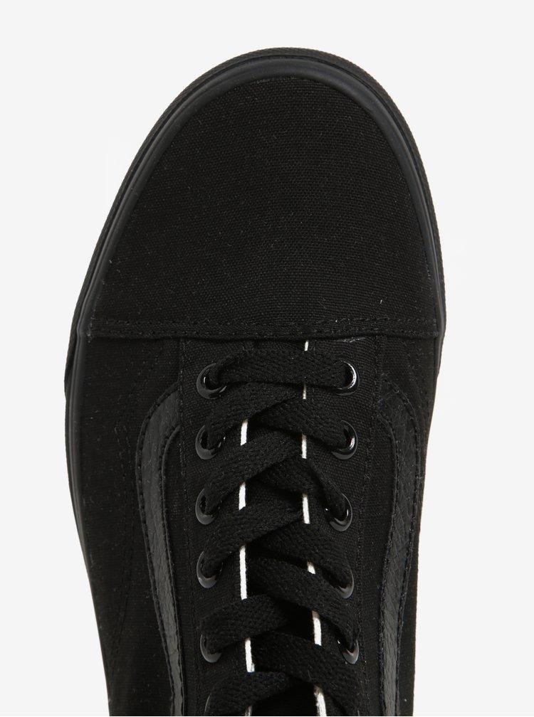 Černé tenisky s koženkovými detaily VANS Old Skool