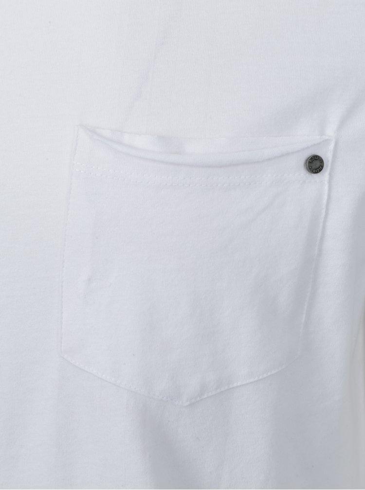 Tricou alb basic cu decolteu rotund Blend