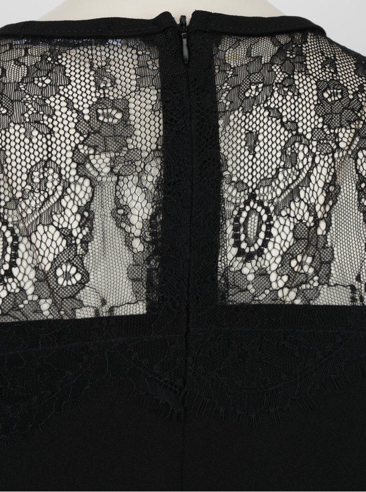 Krémovo-černé šaty s krajkou Haily´s Merle