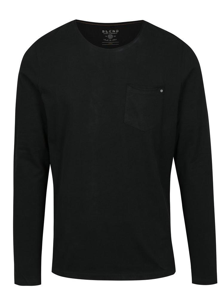 Bluza basic neagra cu buzunar Blend