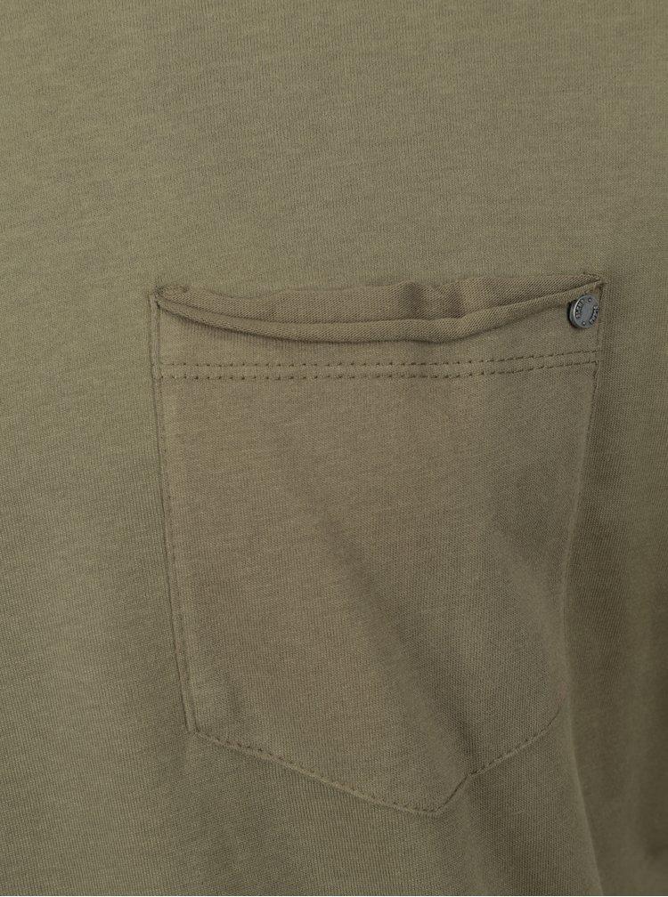 Bluza basic kaki cu buzunar Blend