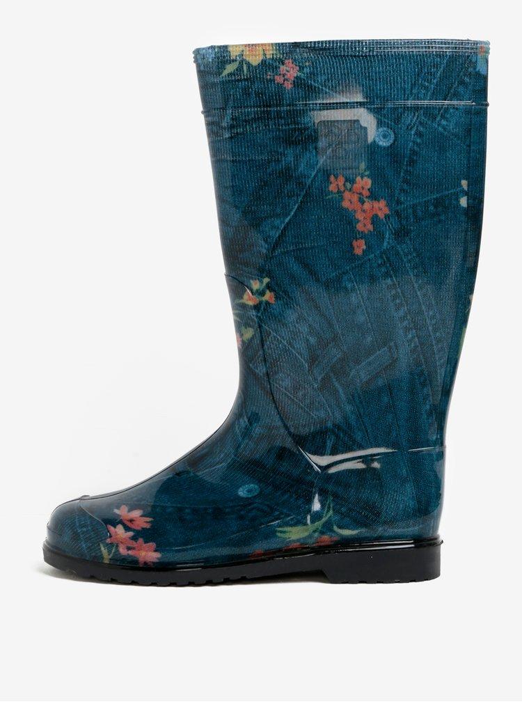 Modré dámské holínky Oldcom Rain