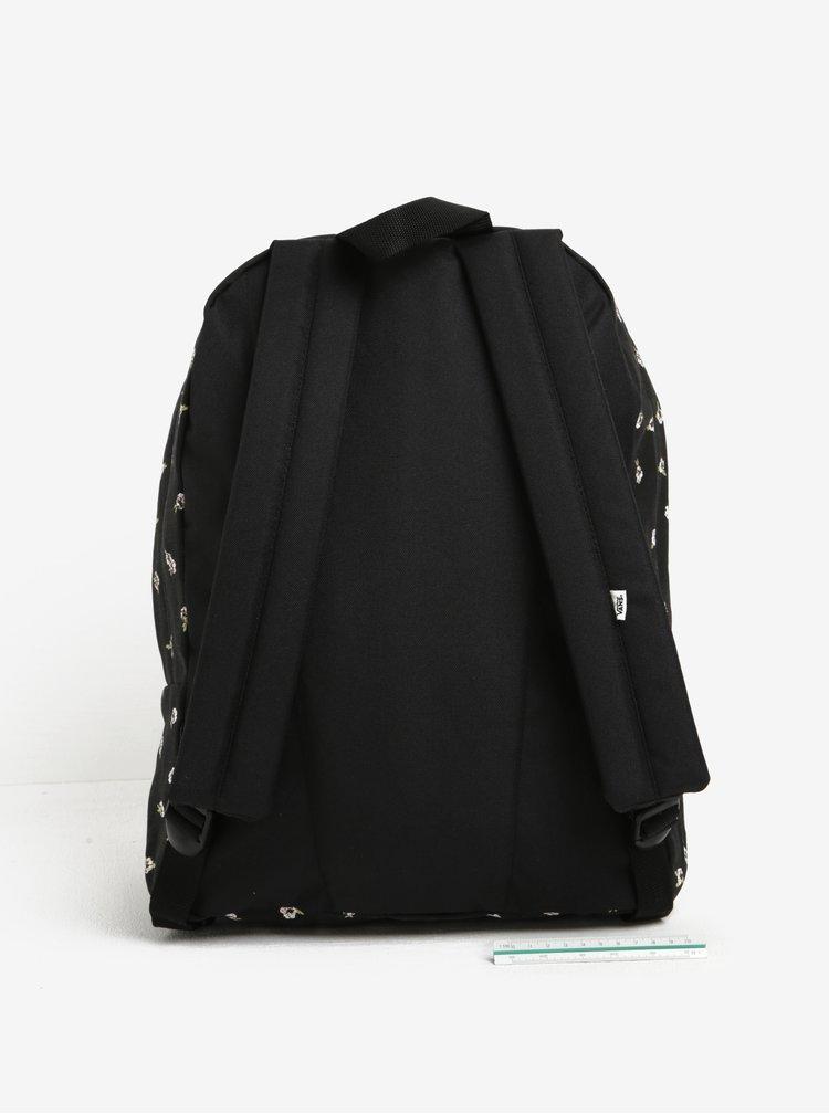 Černý dámský vzorovaný batoh VANS Realm 22 l