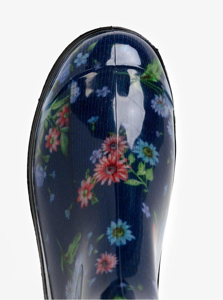 Cizme de ploaie albastre cu print floral - Oldcom Rain