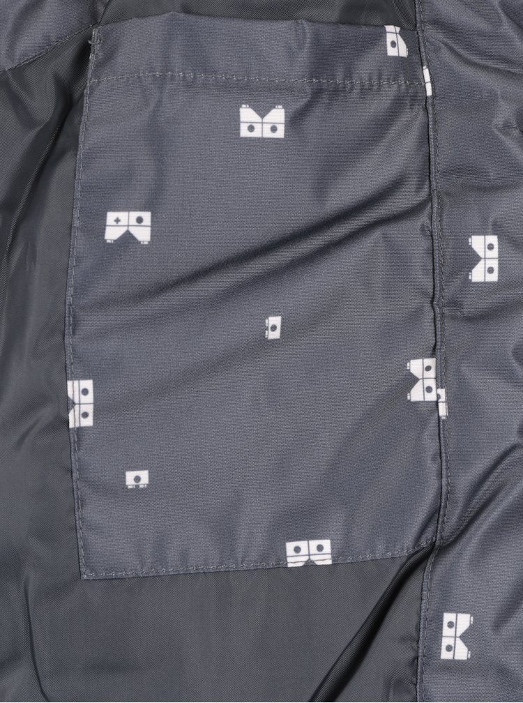 Tmavě šedá holčičí funkční vesta s reflexními prvky Lego Wear Jenny