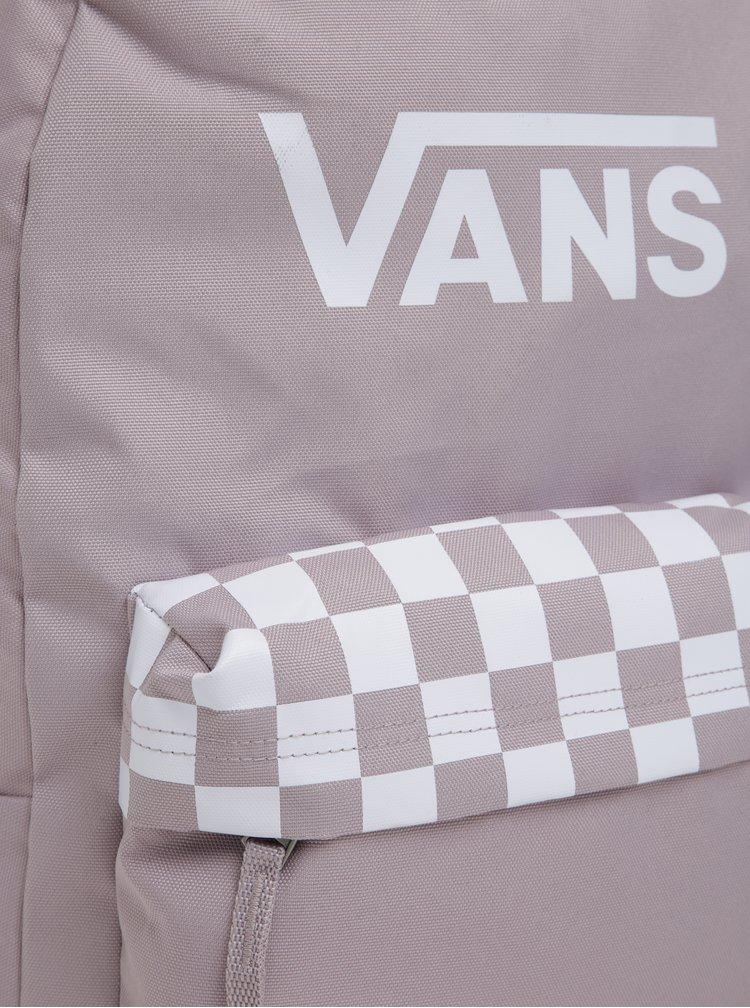 Rucsac roz cu print si logo pentru femei - VANS Sporty Realm 22 l