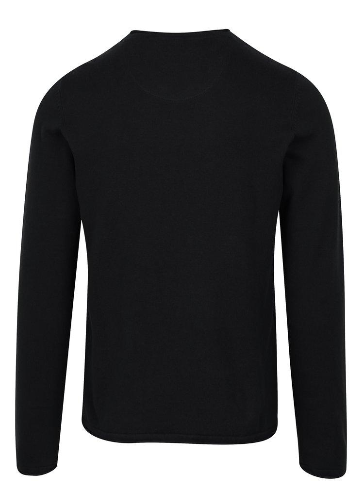 Černý lehký svetr s véčkovým výstřihem Blend