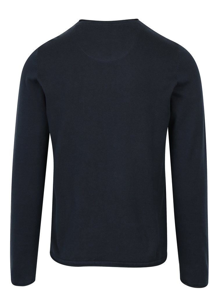 Tmavě modrý lehký svetr s véčkovým výstřihem Blend