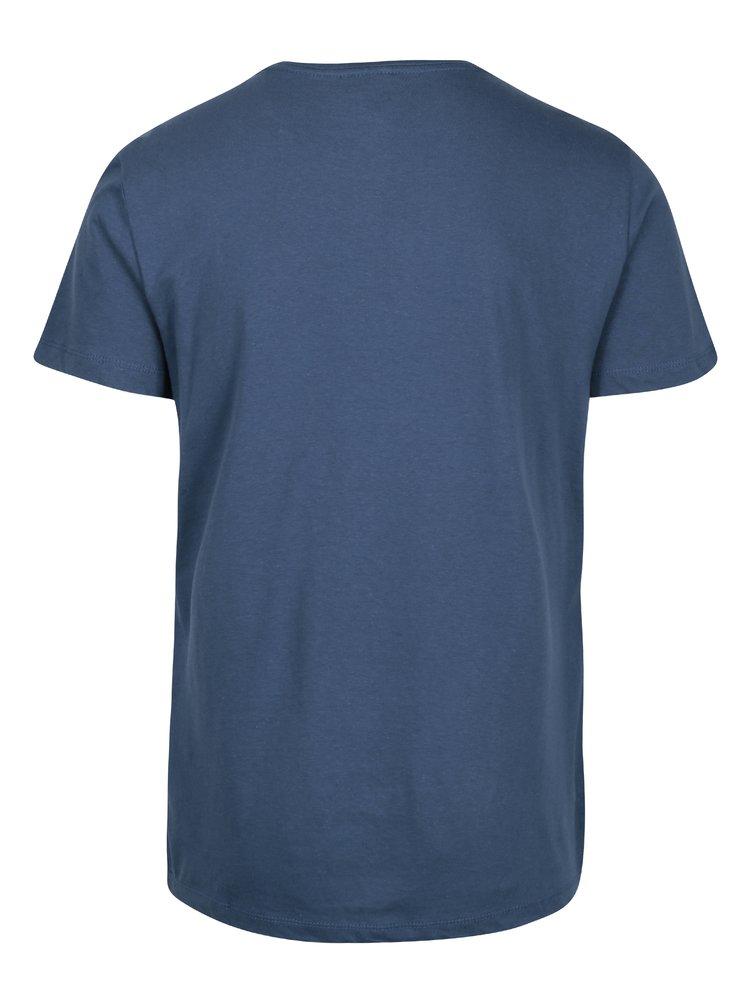 Tricou albastru cu inscriptie Blend