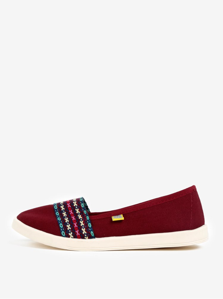 Pantofi bordo slip on cu model Oldcom Mania