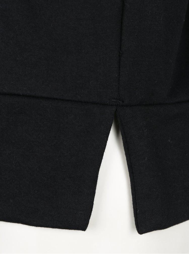 Bluza neagra cu funda si slituri  VERO MODA Tieme