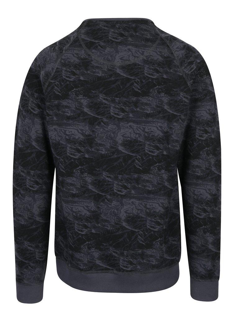 Tmavě modrá vzorovaná slim fit mikina Blend