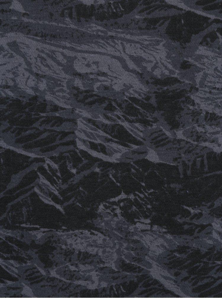 Tmavomodrá vzorovaná slim fit mikina Blend
