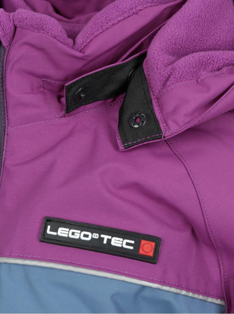Fialovo-růžová holčičí funkční bunda s odnímatelnou kapucí Lego Wear Jenny