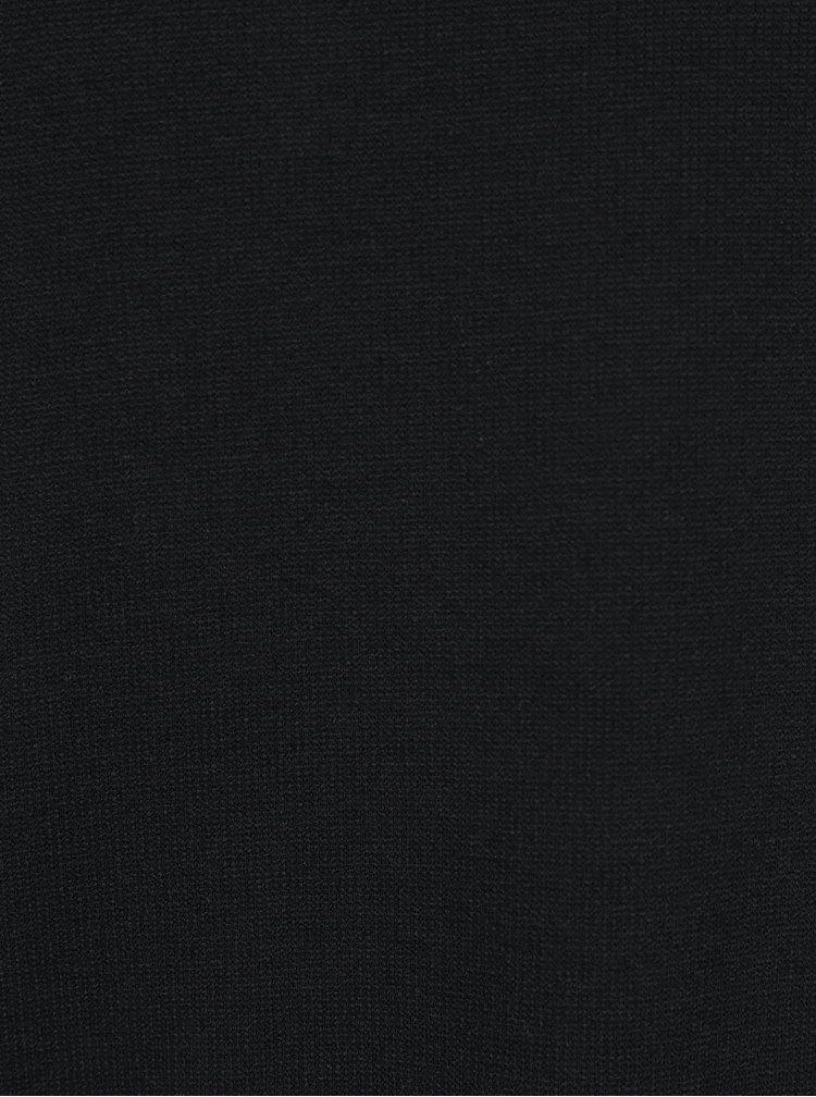 Černá mikina s rozparky a mašlemi na bocích VERO MODA Ari