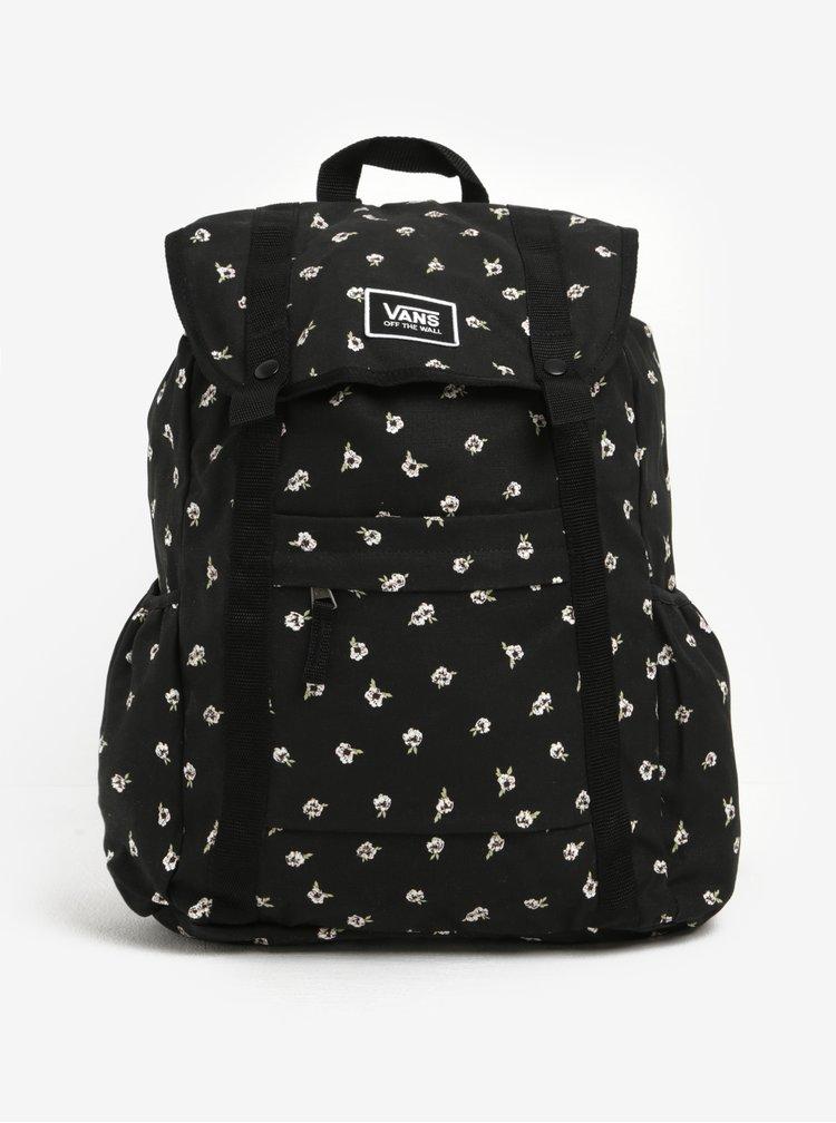 Černý dámský vzorovaný batoh VANS Caravaner 23 l
